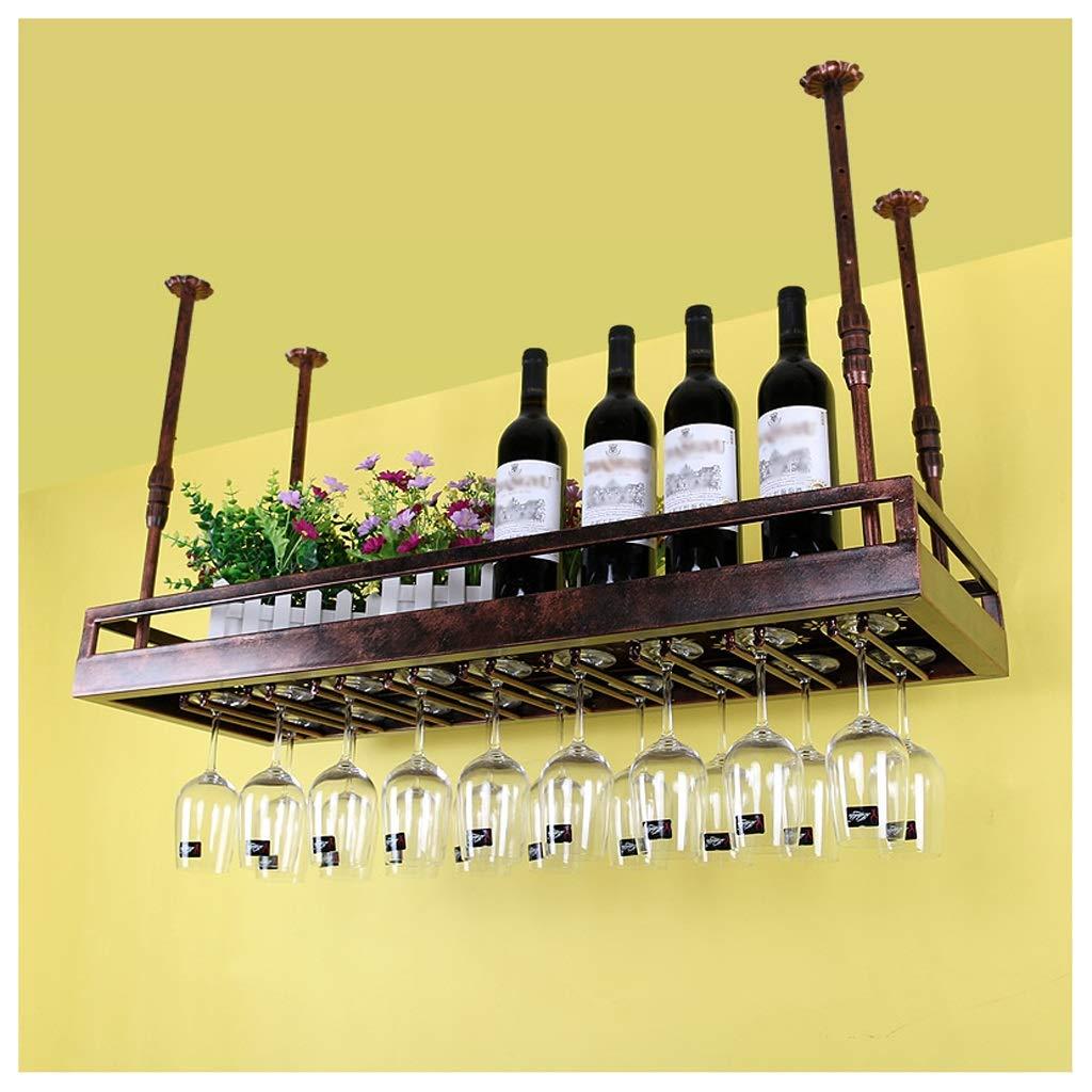 Portabottiglie Da Soffitto Supporto Per Bicchiere Da Vino Appeso Cremagliera Del Bicchiere Di Vino Portabottiglie Da Parete /Altezza Regolabile Supporto Per Calici Appesi Per Cucina Da Bar Nero//Bronzo