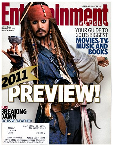 Entertainment Weekly Magazine - January 21, 2011 - Johnny Depp (Pirates of the Caribbean: On Stranger Tides) - 2011 Preview]()