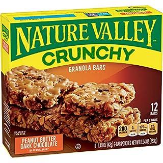 Nature Valley Peanut Butter Dark Chocolate Crunchy Granola Bars, 8.94 Ounce