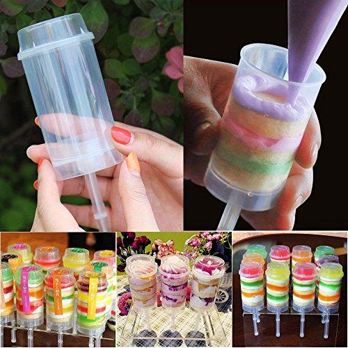 Hot Sale! Hongxin Cake Pop Containers Cake Tool DIY Cake Push up Tool Ice Cream Push Pop Containers for Cupcakes Ice Cream Mold DIY Tool 3PCs/Set -