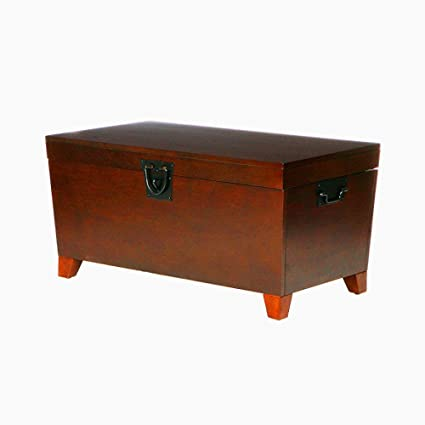 Amazon Com Trunk Coffee Table With Storage Wood Wooden Living Room