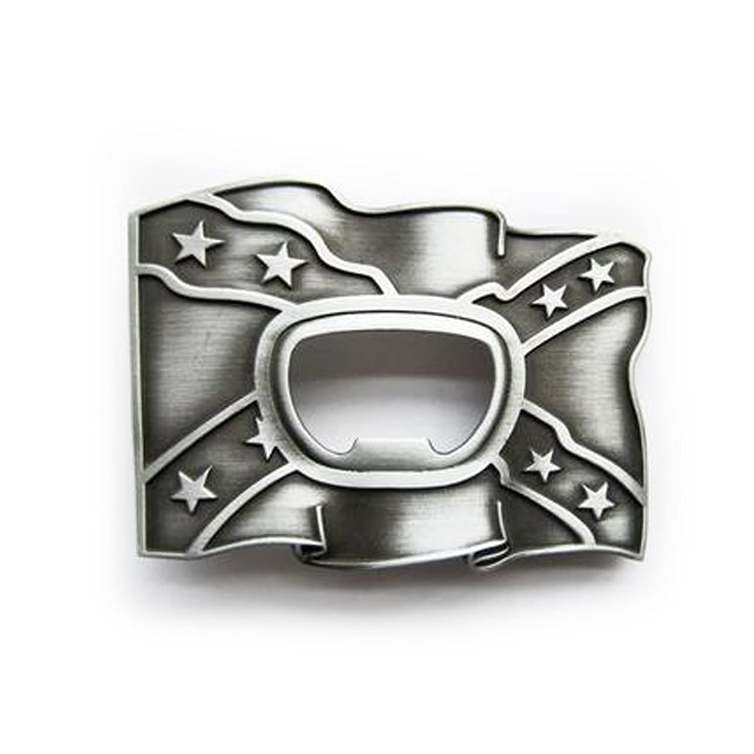 eeddoo® Gürtelschnalle - Flaschenöffner Flagge (Buckle für Wechselgürtel für Damen und Herren | Belt Frauen Männer Oldschool Rockabilly Metall Gothic Wave Rock Biker Western Trucker Casino Skull)