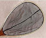 BeesClover Fishing net Wooden Handle Fly Fishing handline Fishing Gear Rubber Nylon mesh net exports Landing Bamboo Wood Pesca 27008B One Size