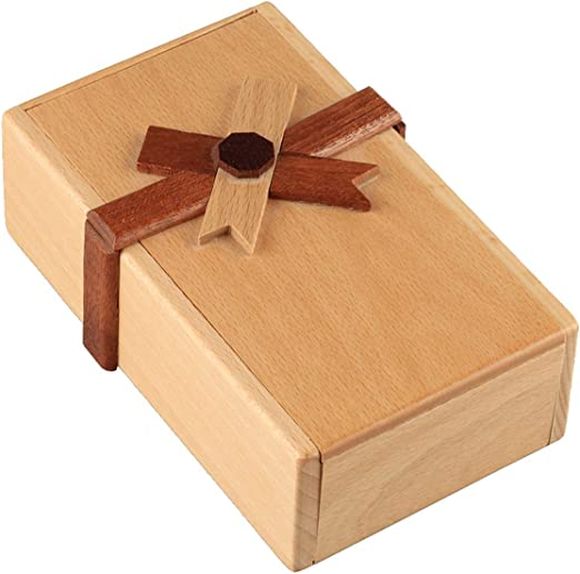 qingqingRPuzzle Caja de Regalo con Compartimentos Secretos Caja de Dinero de Madera para desafiar: Amazon.es: Hogar