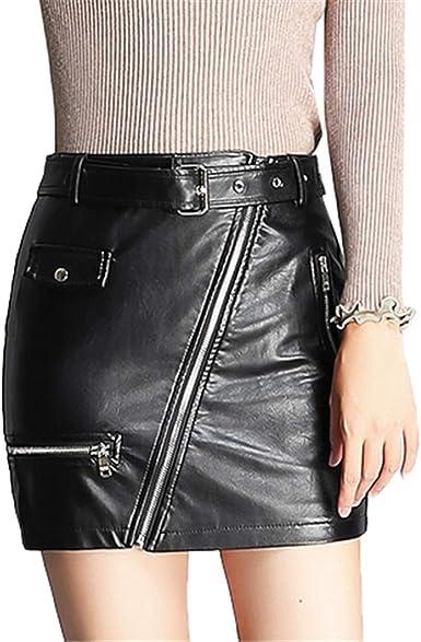 Skitor Cuero Slim Skirt Lápiz Chulas Falda Push Up Corte Ajustado ...