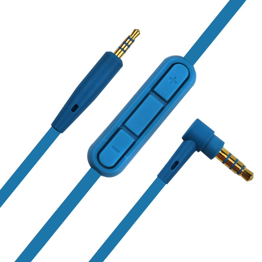 QC25 Replacement Cable with Mic and Volume Control Headphones Cord for BOSE QuietComfort 25 QuietComfort 35 (Blue)