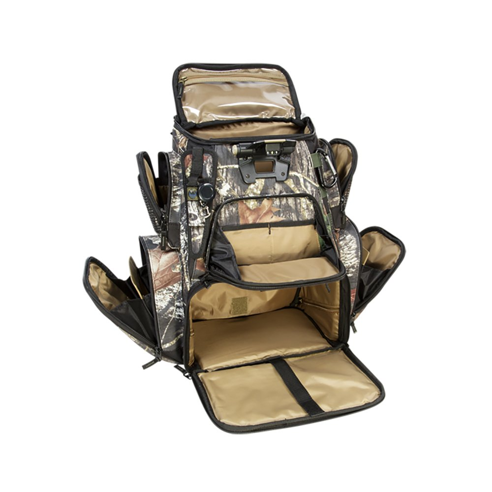 CLC Custom Leathercraft Wild River by CLC Custom Leathercraft WCN604 Tackle Tek Nomad LED Lighted Camo Backpack without Trays, Mossy Oak by Custom Leathercraft