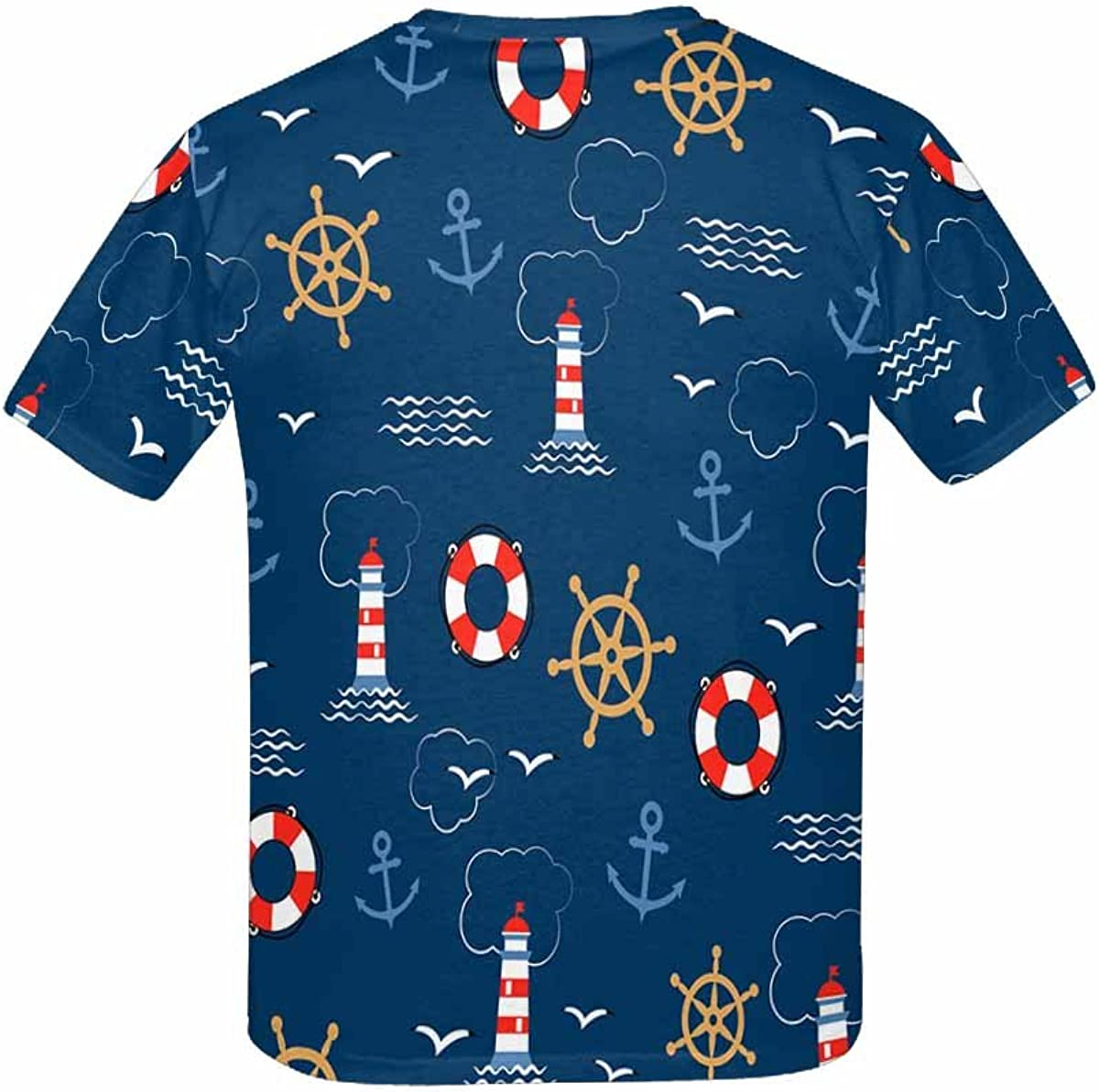 Helms Lifebuoys XS-XL INTERESTPRINT Kids T-Shirt Sea Anchors Seagulls