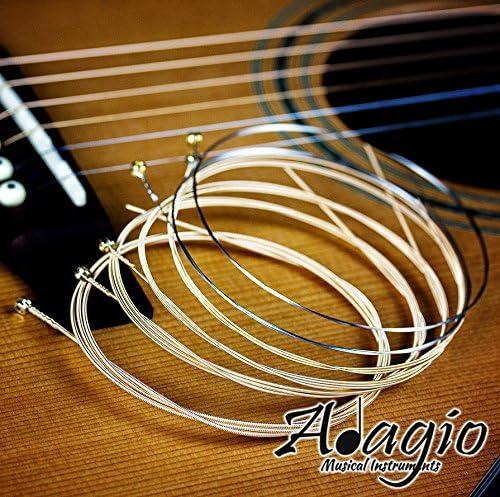 /53 Adagio Premium set di corde per chitarra acustica antiruggine 12/