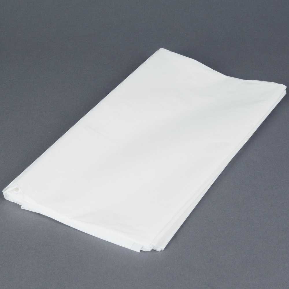 Amscam 77015.08 Rectangular party-tablecovers 54'' x 108'' White
