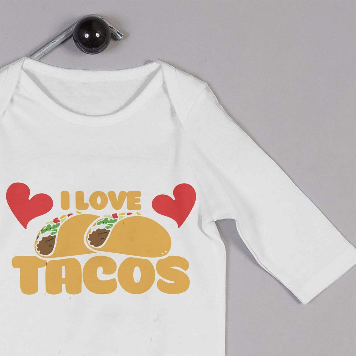 Toddler Baby Boy Girl Long Sleeve Jumpsuit I Love Tacos Infant Long Sleeve Romper Jumpsuit
