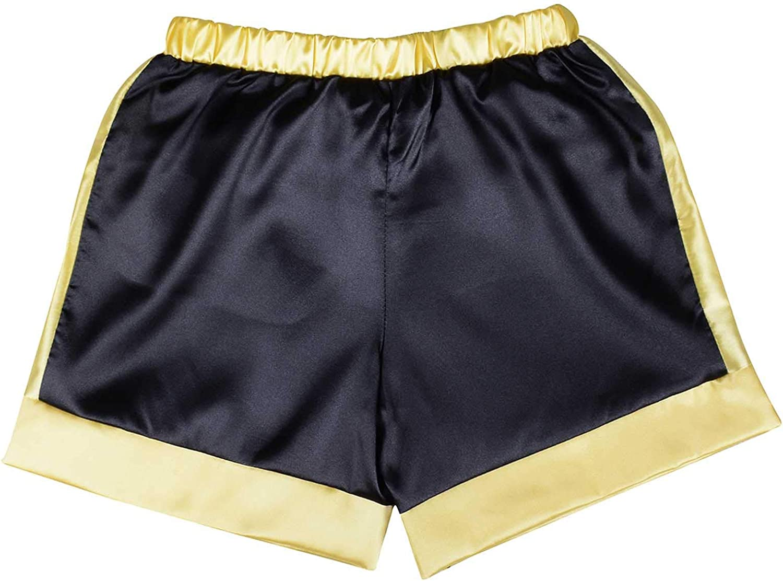 Boys Boxing Shorts Rocky Balboa Champion Costume Boxing Trunks Italian Stallion Satin Apollo Movie Boxer Shorts Sports Pants