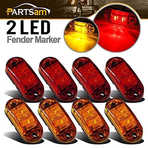 (Partsam 12V LED Side Marker Lamp Truck Lights 2.5