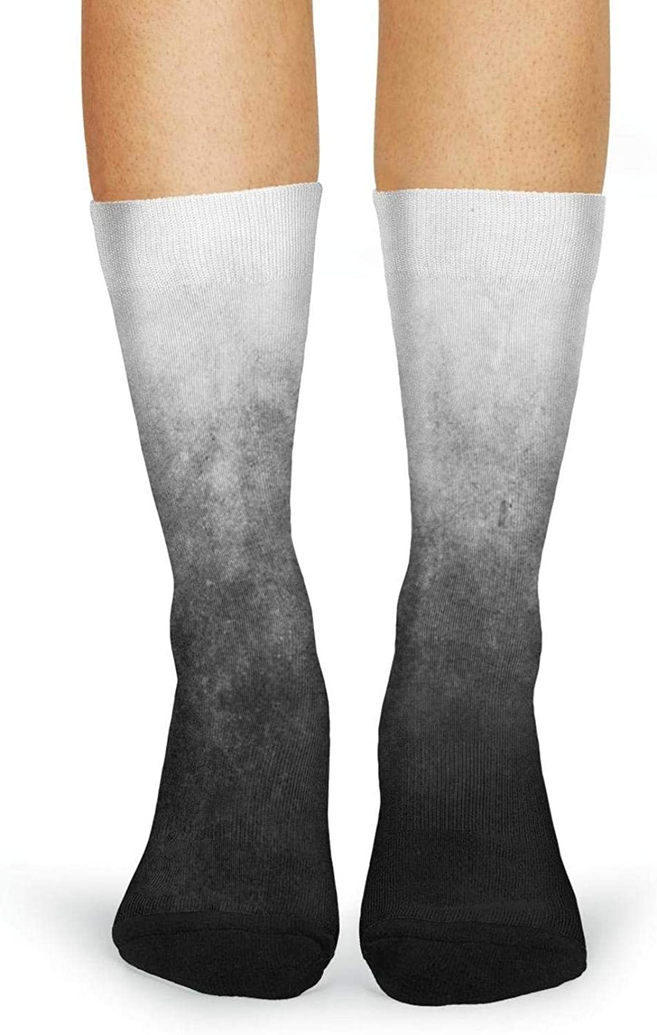 XIdan-die Womens Over-the-Calf Tube Socks Abstract Marble Ink Moisture Wicking Casual Socks