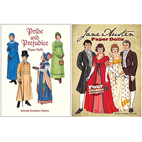 Jane Austen's Pride & Prejudice Paper Dolls - 4 Characters 16 Fashion Plates - Costume Society Uk
