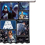 Star Wars Bathroom Set, Shower Curtain, Hooks, Bath Towel, Bath Rug, and Wastebasket