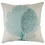 Weksi®Animal Style Cotton Linen Square Throw pillow Covers 18×18 Cushion Cover Seaweed Pattern Decorative Pillow Cover for Couch and Sofa Pillow Cover