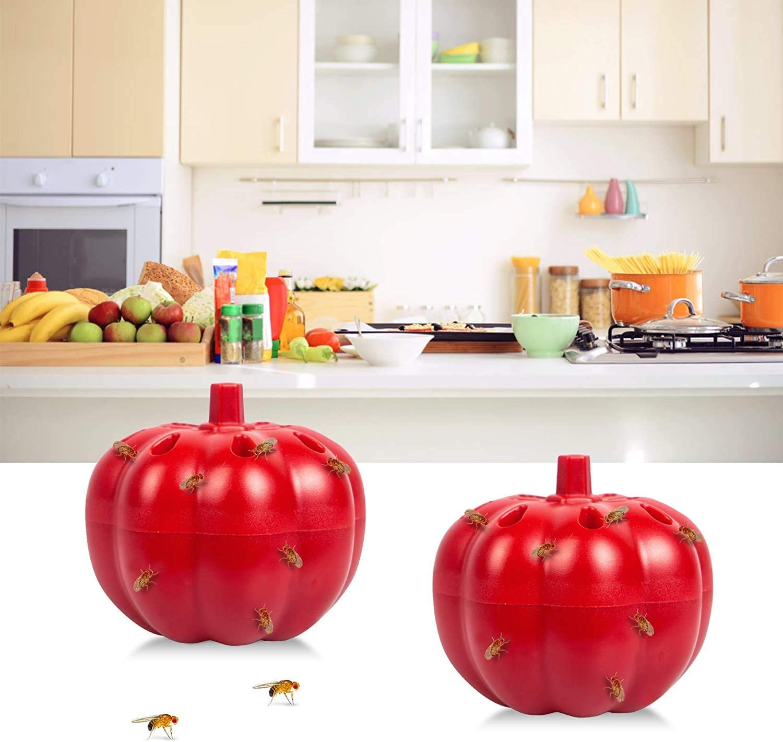 2 Pack Fruit Fly Traps Indoor, Gnat Trap Indoor for Plant/Kitchen, Gnat Killer for Home