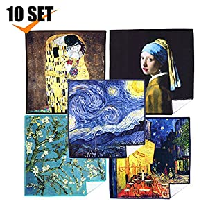 EXTRA LARGE [50 Pack] World Best Classic Art Collection - ULTRA PREMIUM QUALITY Microfiber Cleaning Cloths (Best for Camera Lens, Glasses, Screens, and all Lens.)