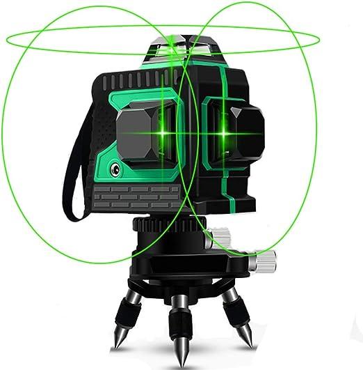 12 Linienlaser Level Meter 360 Grad Wasserdicht Laser Messwerkzeug 3D Grün Licht