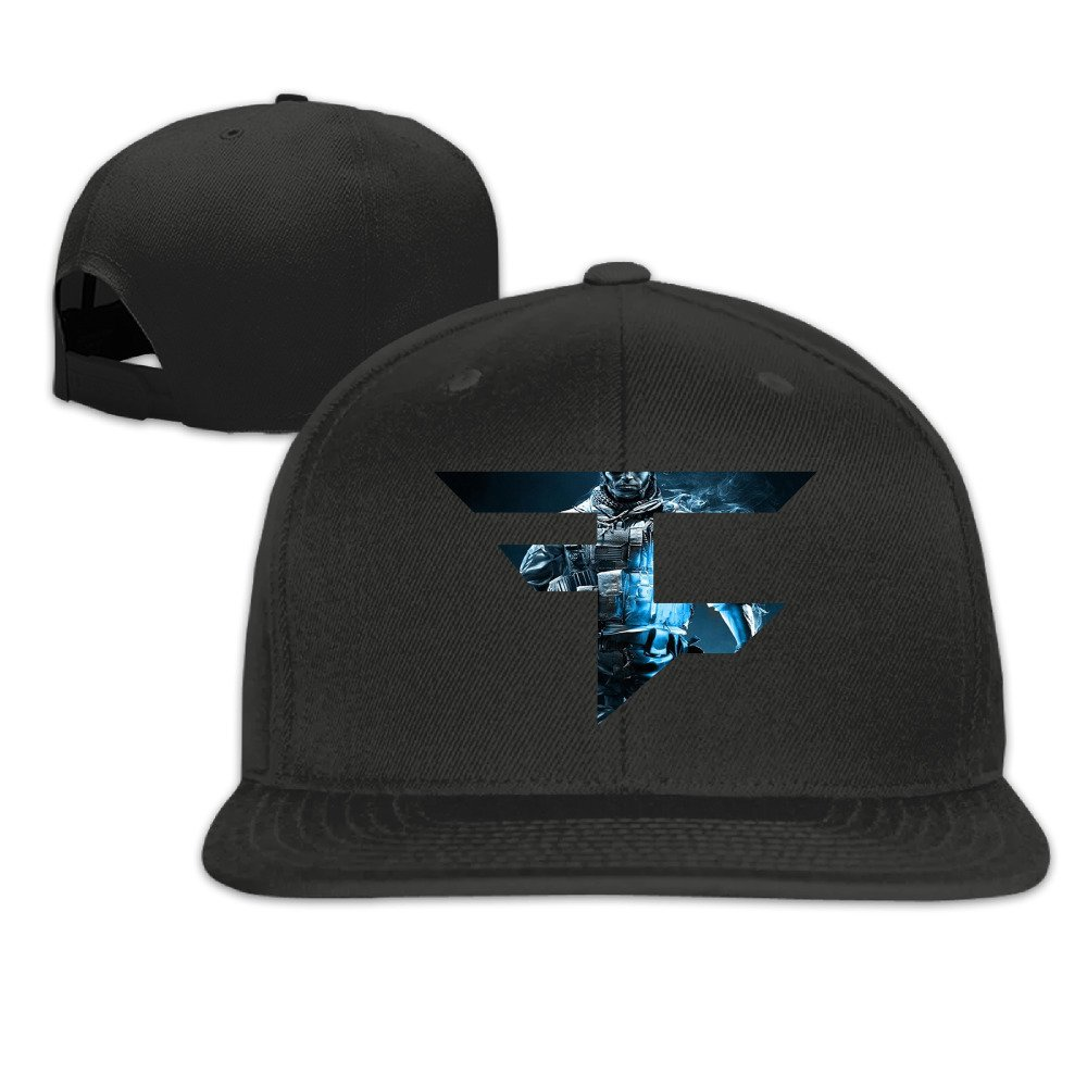 Faze Clan Ghosts Boy Girl Adjustable Flat Trucker Baseball Cap Black