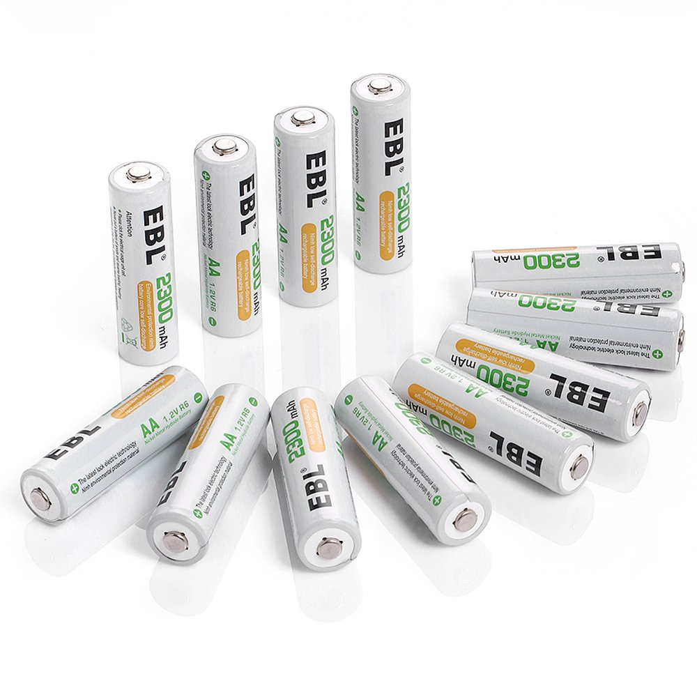 EBL Pack of 12 AA NiMH 2300mAh Precharged Rechargeable Battery