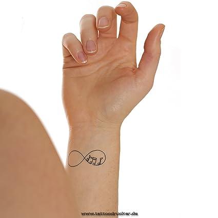 10 x Eternity Conjunto de tatuajes temporales en negro - 8 partes ...