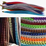 Mixed color Synthetic Feather Hair Extension Kit