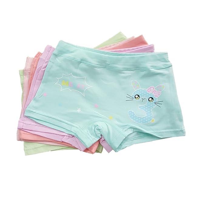 1fd4603ed19b Baby Girl Panties Kid Girls Underwear Boyshorts Soft Cotton Boxer Briefs 5  Pack 2-4t