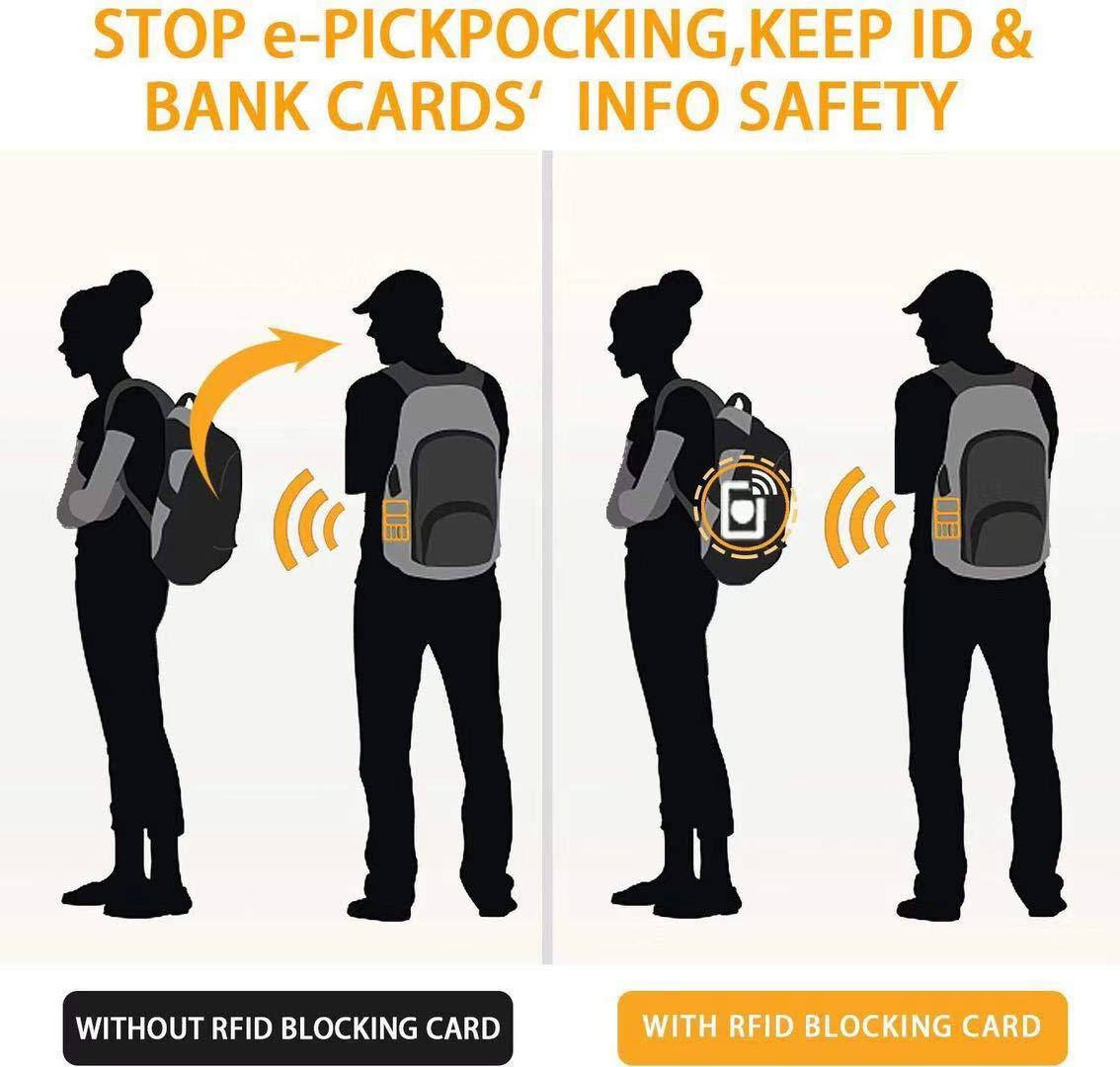 f/ür M/änner oder Frauen keine Notwendigkeit mehr f/ür einzelne H/üllen EC-Kartenhalter Schutz f/ür Ihre gesamte Geldb/örse NFC, kontaktloser Kartenschutz Gold RFID-Blocking-Karte