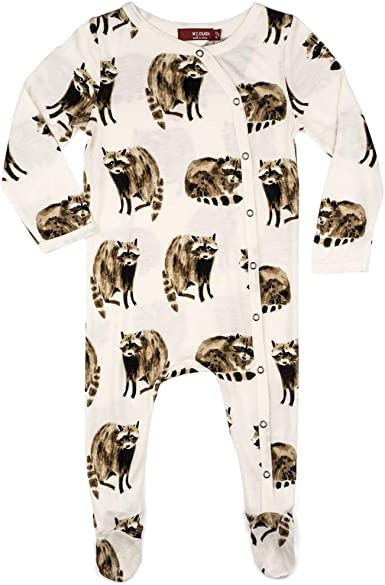 Raccoon MilkBarn Bamboo Footed Baby Romper