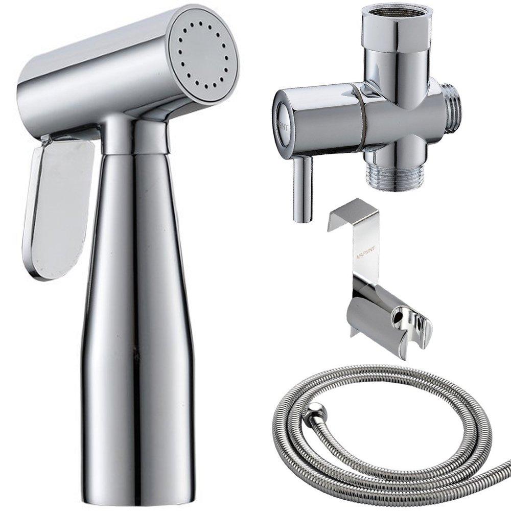 VAPSINT Premium Brass Bidet Hand Held Bidet Sprayer,Chrome Hand Sprayer for Toilet