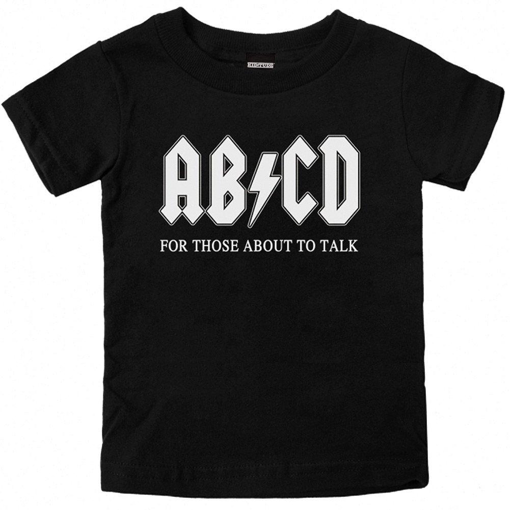 Kiditude AB//CD Funny Toddler T-Shirt Black
