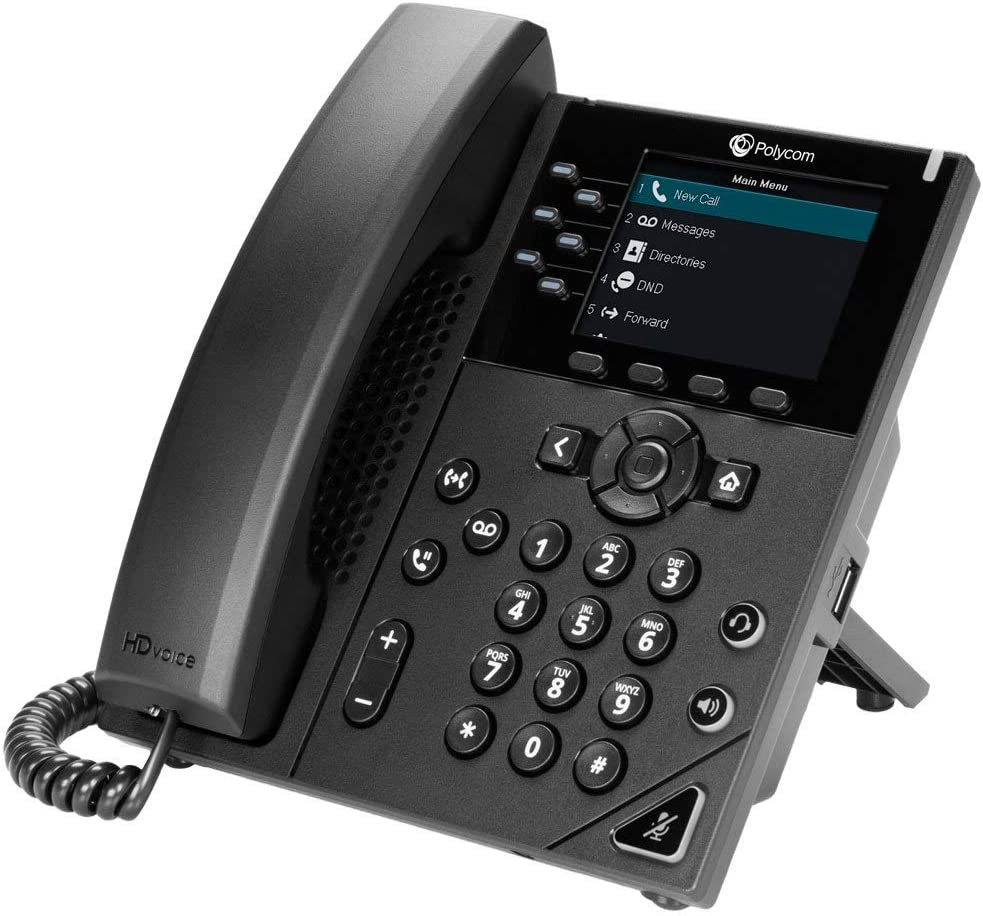 Renewed Power Supply Not Included Polycom VVX 350 Business IP Phone