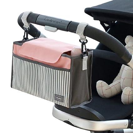 Bolso de almacenamiento del organizador del carro del bebé, Sunbeter bolso de almacenaje colgante del