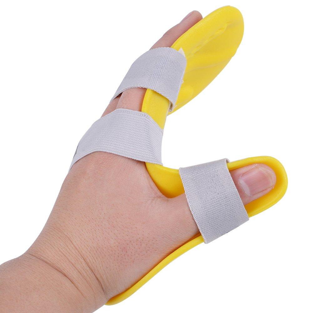 Genmine Finger Training Board Finger Splint Fingerboard Train Finger Orthotic Point Stroke Rehabilitation Equipment Medical Hand Wrist Training Orthosis Device Brace Support (Left Hand)