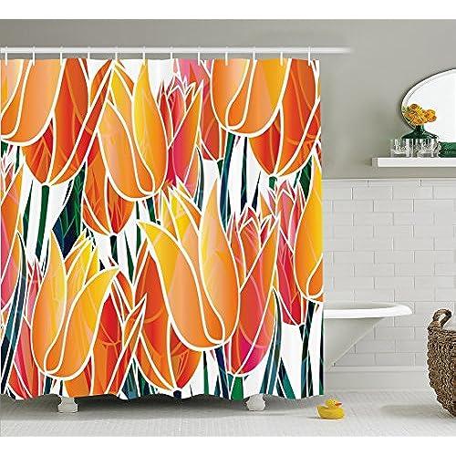 bright colored shower curtains. Black Bedroom Furniture Sets. Home Design Ideas
