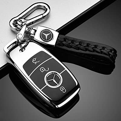121Fruit Way Suit for Mercedes Benz Key Fob Cover, Premium Fashion Appearance Key Case Cover Mercedes Benz E Class, 2020 up S Class, 2020 2020 W213 Keyless Smart Key Fob_Silver: Automotive [5Bkhe0112005]