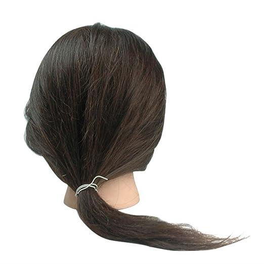 """1 opinioni per YKS Wig 18""""/45 centimetri Parrucca da Donna con Capelli Veri per Costume Festa"""