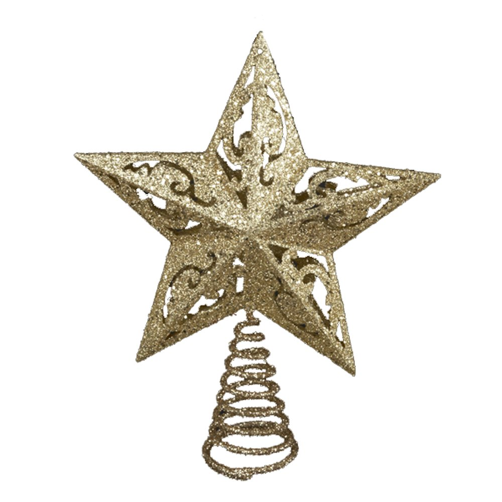 Kurt Adler 8-Inch Gold Glittered Star Treetop