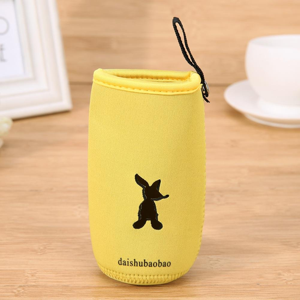 Amazingdeal Milk Bottle Insulation Bag Portable Hangable Cup muff Cover Warmer Mummy Pouch Thermal Standard Caliber Milk Feeding Bottle Sleeve wrapping 5.5 x 2.3inch