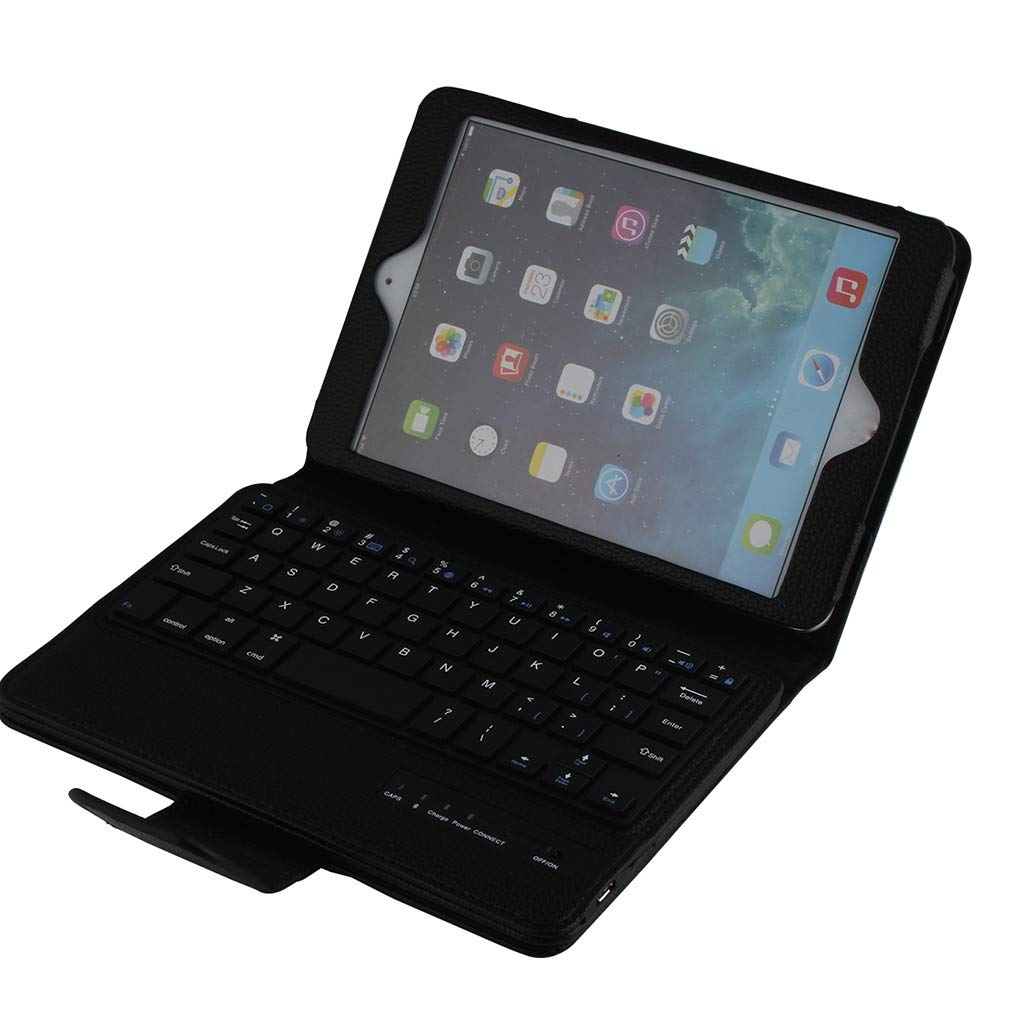 Ipad Case, PU Leather Business Slim Folding Stand Folio Cover Case Detachable Wireless Bluetooth with Keyboard for Ipad Air 10.5Inch (Black) by Besde Case (Image #2)