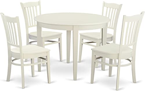 BOGR5-WHI-W 5 Pc Dinette'set