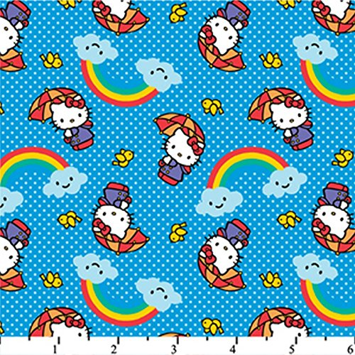 hello-kitty-rainbow-blue-hk-20-100-cotton-fabric-quilt-prints-44-45-wide-sold-by-the-yard