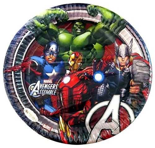 Funcart Avenger Theme 7  Paper Plate,  10pcs/Pack