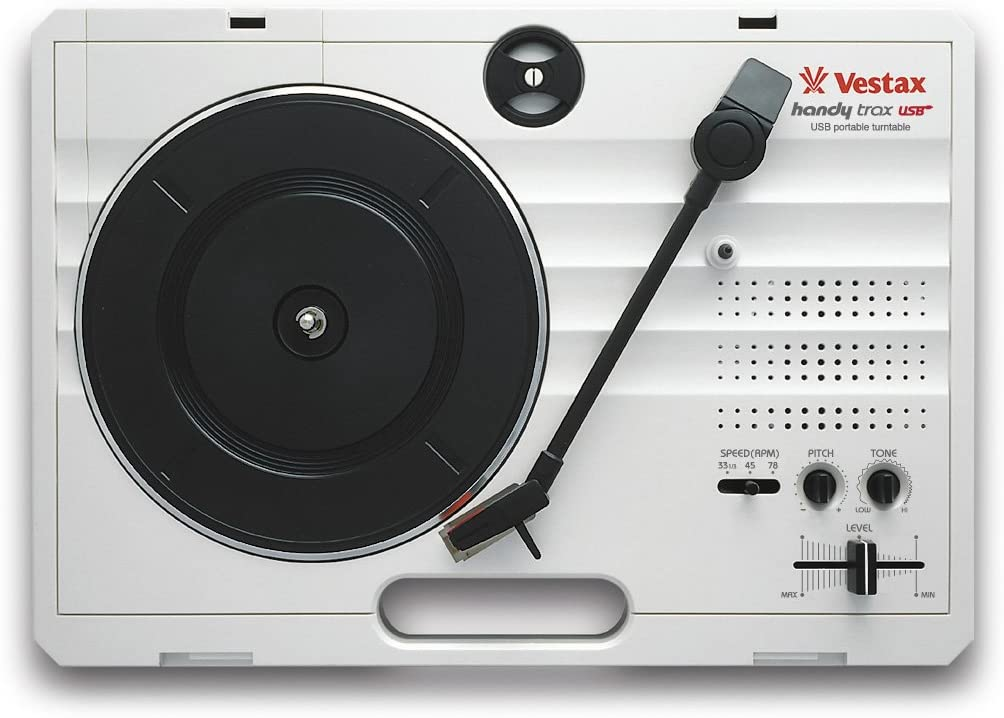 Vestax Handy Trax USB Tragbarer Minidisc Player grau 370 x 260 x 97 mm, 2 kg, grau Mini-Laufwerke und Recorder
