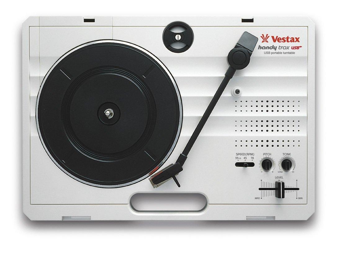 Vestax ポータブルターンテーブル handytrax USB WHITE ホワイト USB出力機能/録音ソフト付き スピーカー内蔵 B002ANG2NO  ホワイト