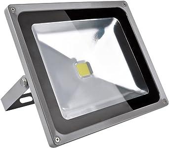 50W Luz Foco Proyector LED Blanco Frio Foco Exterior Foco de pared ...