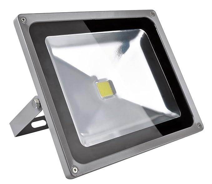 50W Luz Foco Proyector LED Blanco Frio Foco Exterior Foco de pared Aluminio IP65 Impermeable