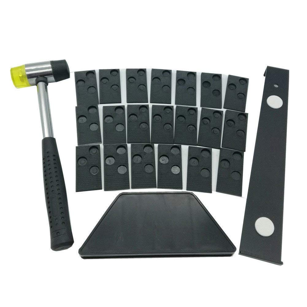 hothuimin Laminate Wood Flooring Installation Kit with 20 spacers,Tapping Block, Pull Bar and Mallet #10-MDBAZ